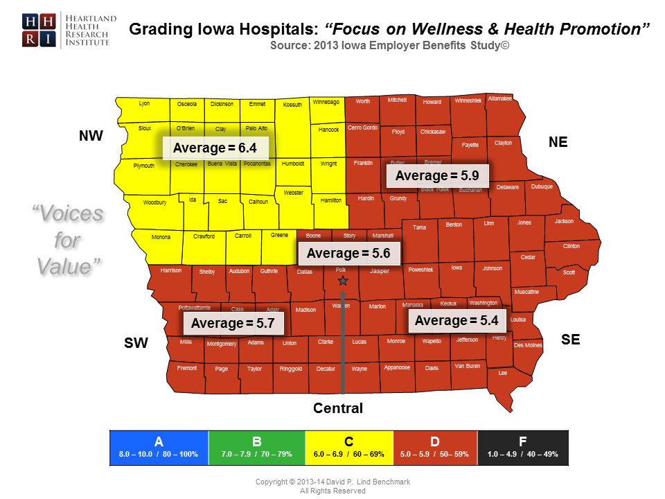 Regional - Focus on Wellness & Health Promotion County Map-Master